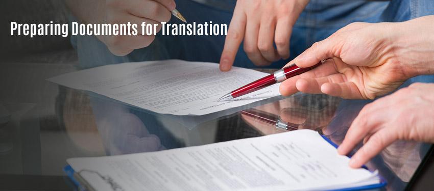 Preparing Documents for Translation